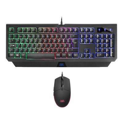Keyboard + Mouse Mars Gaming MCP100PT Combo 2 em 1 RGB
