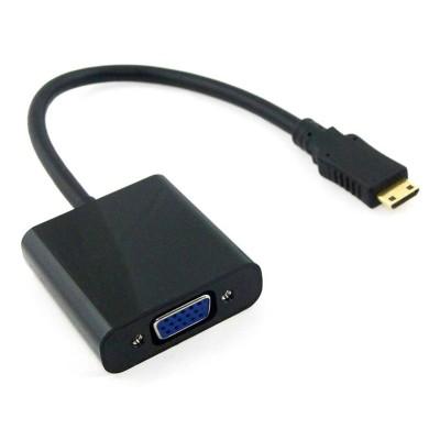 Adaptador Mini HDMI para VGA (M/F) Preto