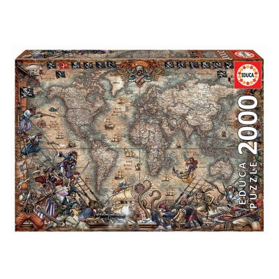 Puzzle Map of Pirates 2000 Pieces