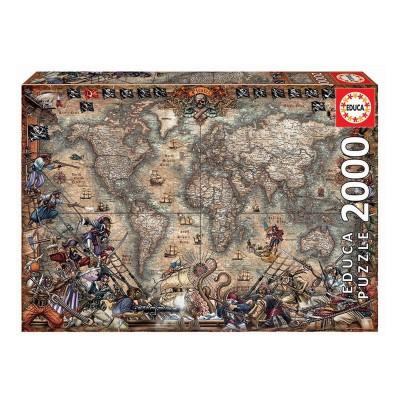 Puzzle Mapa de Piratas 2000 Peças