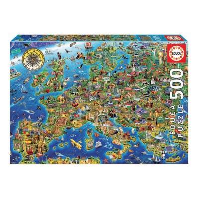 Puzzle Mapa Europa 500 Peças