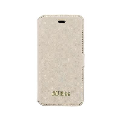 Guess Saffiano Flip Cover Case iPhone 6 Plus Beige (GUFLBKP6LTBE)