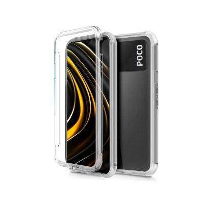 Capa Silicone Frente e Verso Xiaomi Poco M3 Transparente