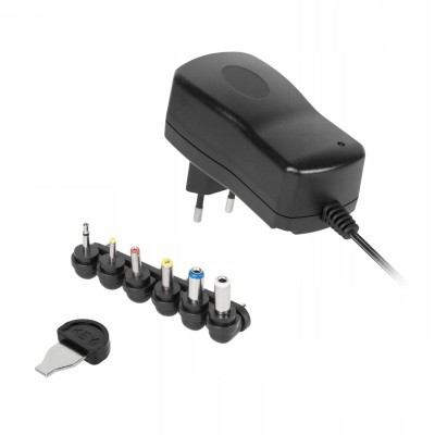 Universal charger Kemot 3-12V 2A 24W Black