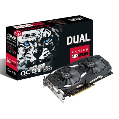 Graphics Card Asus Radeon RX 580 Dual OC 8GB GDDR5 (PCIE)