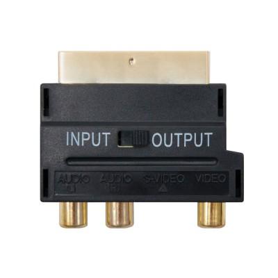 Adaptador Nanocable SCART para RCA/S-Video (M/F) Preto