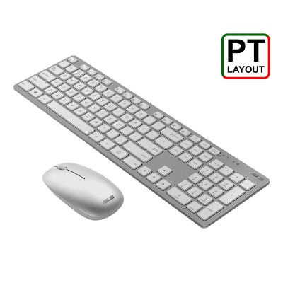Wireless Keyboard + Mouse Asus W5000 PT White