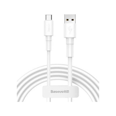 Adapter Baseus 2.4A USB Tipo-A/Micro 1m White