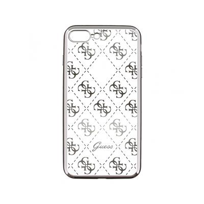 Guess Silicone Case iPhone 7 Plus Silver (GUHCP7LTR4GSI)