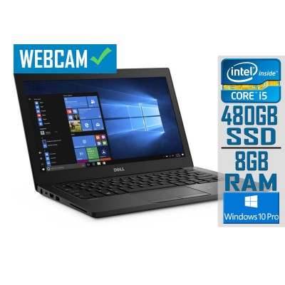 "Laptop Dell Latitude 7280 12"" i5-7300U SSD 480GB/8GB Refurbished"
