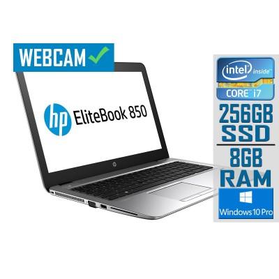 "Laptop HP EliteBook 850 G3 15"" i7-6500U SSD 256GB/8GB Refurbished"