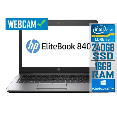 Laptop HP EliteBook 840 G3 14'' i5-6300U SSD 240GB/16GB Refurbished