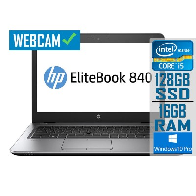 Portátil HP EliteBook 840 G3 14'' i5-6300U SSD 128GB/16GB Recondicionado
