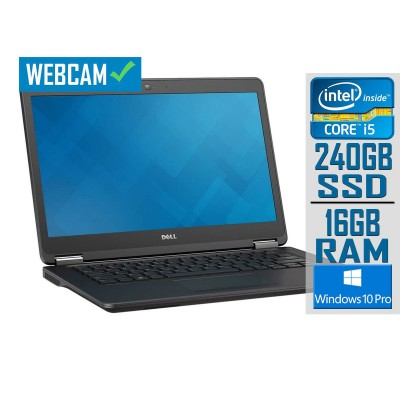"Laptop Dell Latitude E7450 14"" i5-5300U SSD 240GB/16GB Refurbished"