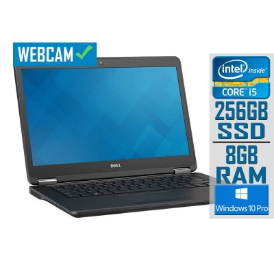 """Portátil Dell Latitude E7450 14"""" i5-5300U SSD 256GB/8GB W10P Recondicionado"""