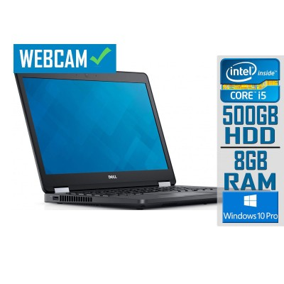 "Laptop Dell Latitude E5470 14"" i5-6300U 500GB/8GB Refurbished"