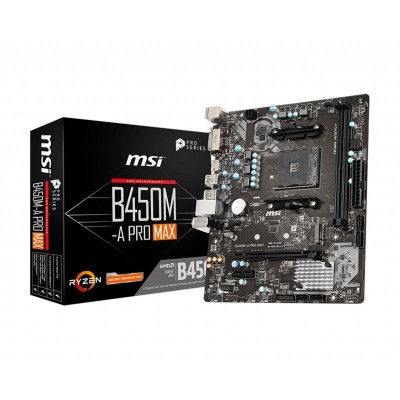 ATX Motherboard MSI B450M-A Pro Max Micro-ATX (911-7C52-002)