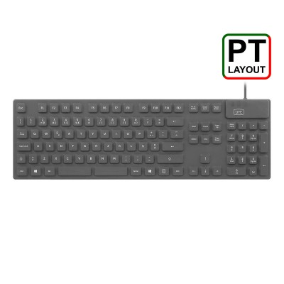 Keyboard 1Life kb:cleanboard Silicone PT Black
