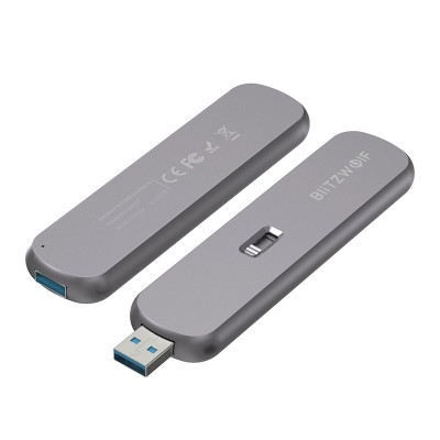 Enclosure Blitzwolf SATA M.2 SSD USB 3.0 Grey (BW-SSDE4)
