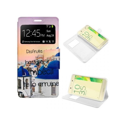 Flip Cover Sony Xperia X Drawing