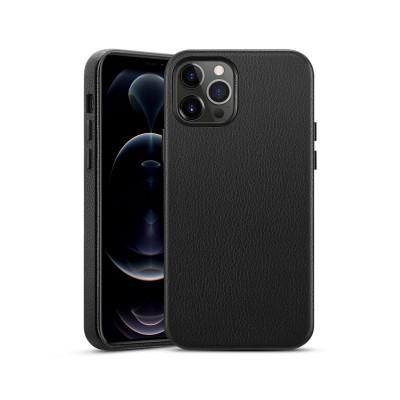 Capa Pele Premium iPhone 12/12 Pro Preta