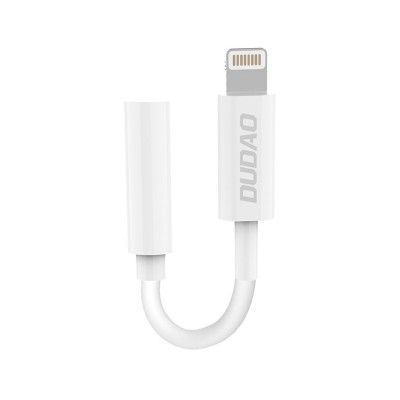 Adapter Dudao Lightning to Jack 3.5mm White