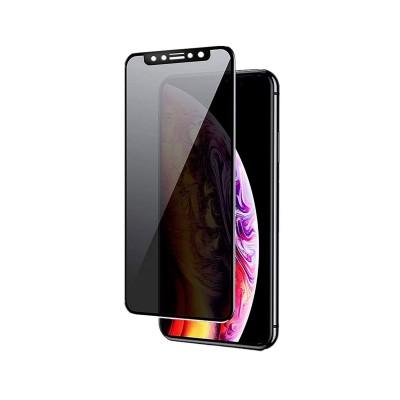 Tempered Glass Film iPhone 11/XR Privacy Fullscreen Black