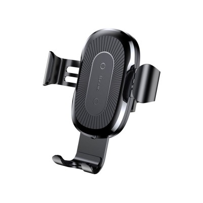 Car Support Baseus w/Wireless Charger 10W Black