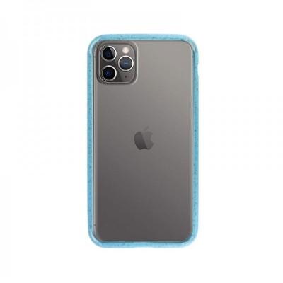 Funda Silicona iPhone 11 Transparente/Azul