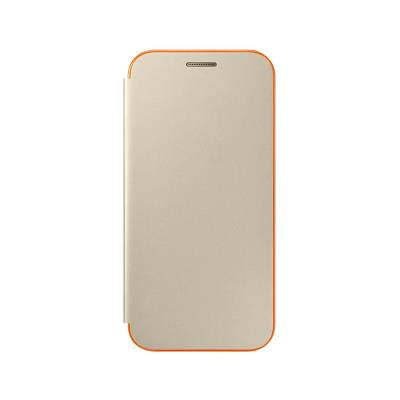 Funda Neon Flip Cover Original Samsung Galaxy A3 2017 Dorado (EF-FA320PFE)