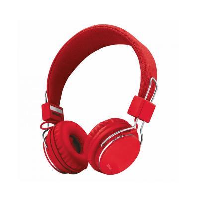 Headphones Trust Ziva Foldable Red