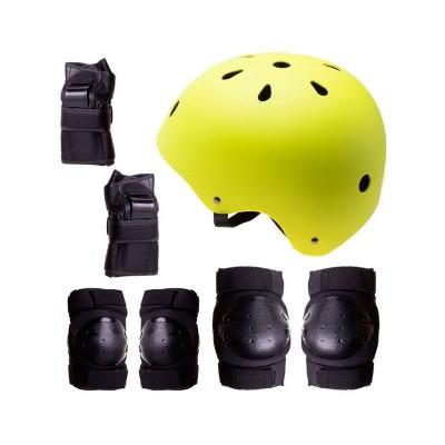 Conjunto de Proteção p/Patins, Skate, Bicicleta Tamanho M Verde