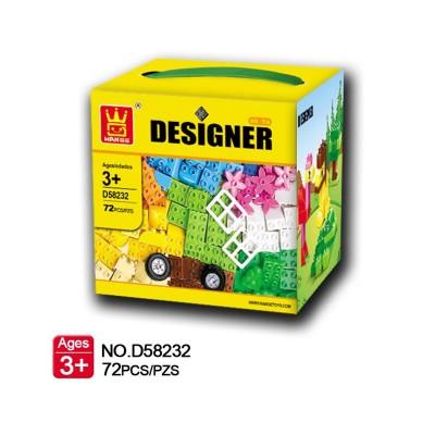 Conjunto de Blocos Designer Creative Box (72 Unidades)