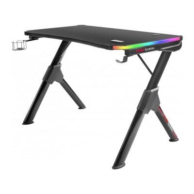 Mesa Gaming Mars MGD RGB 110x60x75 cm Preta
