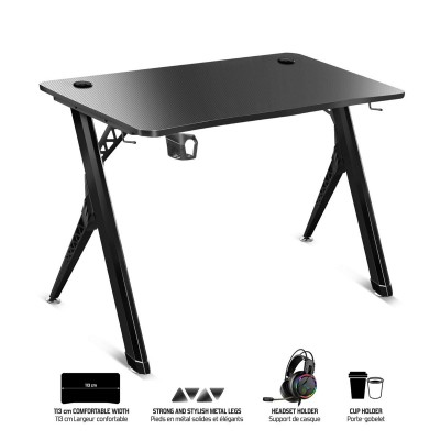 Gaming Table Spirit of Gamer Headquarter 200 113x60x75 cm Black