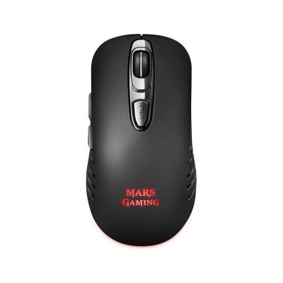 Rato Gaming Sem Fios Mars Gaming MMW2 3200 DPI RGB Preto
