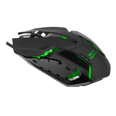 Gaming Mouse Mars Gaming MRM0 4000 DPI RGB Black