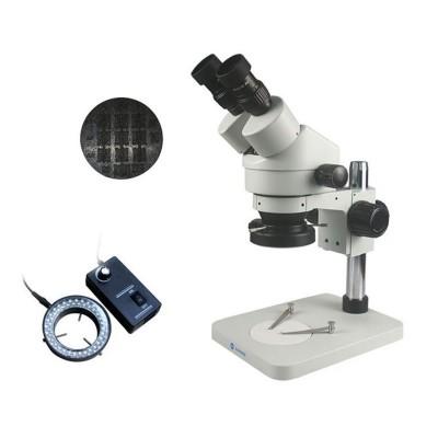 Binocular Microscope Zoom 7-45X White