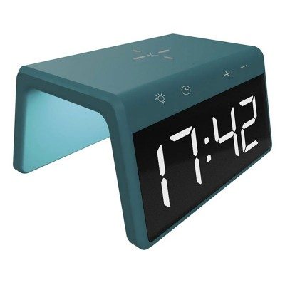 Alarm Clock With Wireless Charger Ksix Alarm Clock 2 10W Green