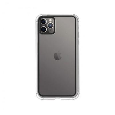 Funda Silicona iPhone 11 Pro Mate oscuro transparente