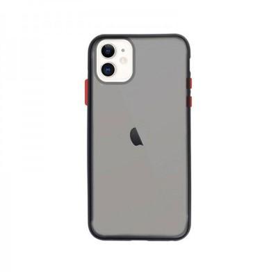 Silicone Cover iPhone 11 Transparent Dark Matte