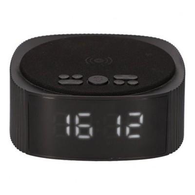 Rádio Despertador com Carregador Wireless KSIX Alarm Clock 10W Preto