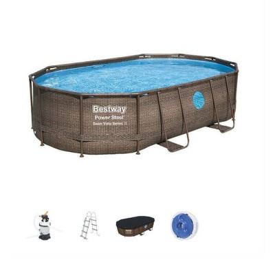 Pool Bestway 56946 488x305x107 cm w/Water Pump