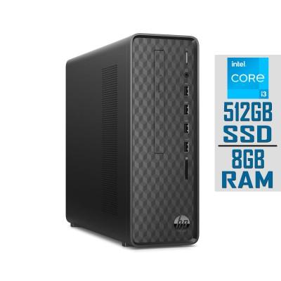 Desktop HP Slim i3-10100 SSD 512GB/8GB W10H Black (S01-PF1010NS)
