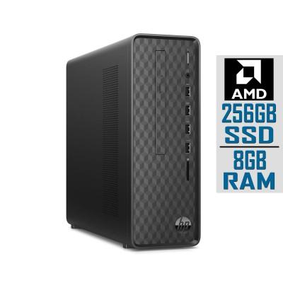Torre HP Slim Athlon 3150U SSD 256GB/8GB Preta (S01-AF0018NS)