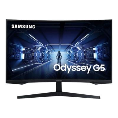 """Monitor Curvo Samsung Odyssey G5 32"""" WQHD Preto (LC32G55TQWR)"""