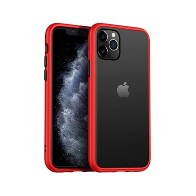 Funda Silicona iPhone 11 Pro Transparente/Roja