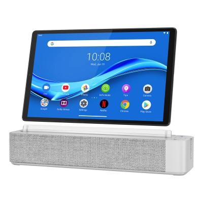 """Tablet Lenovo Smart Tab M10 FHD Plus com Smart Dock 10"""" 64GB/4GB Prateado"""