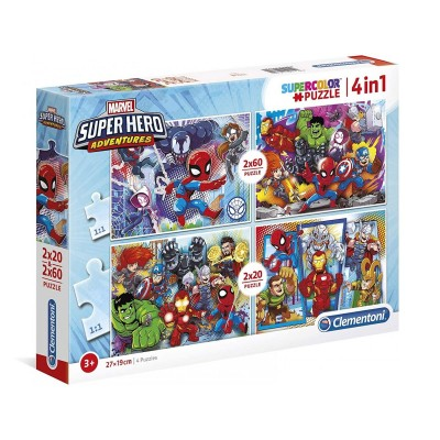 Puzzle Marvel 2x20 + 2x60 Pieces