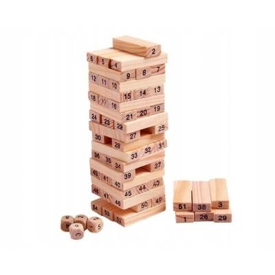 Wooden Blocks Game 54 Pieces